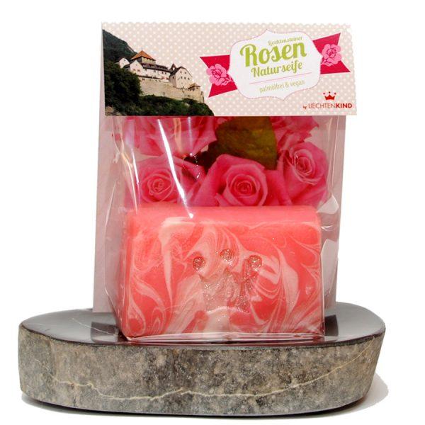 Rosenseife in Geschenkverpackung