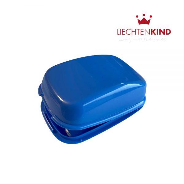 Aufbewahrungdose für Seife mit Scharnier in blau