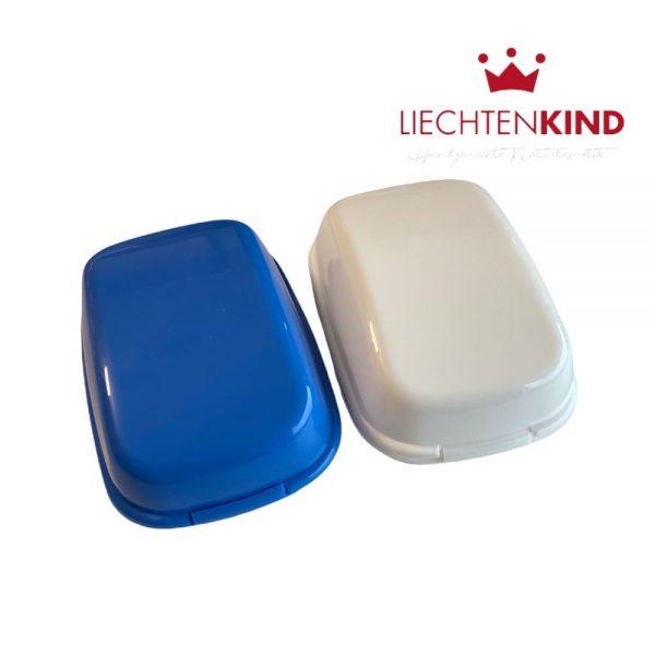Aufbewahrungdose für Seife mit Scharnier