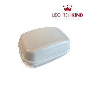 Aufbewahrungdose für Seife mit Scharnier in weiss
