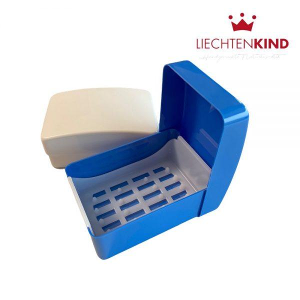 Aufbewahrungsdosen für Seifen mit Deckel blau